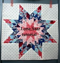 lone star quilt block tutorial