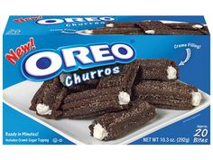 The creme-filled churros are found in the frozen dessert section of the supermarket Oreo Flavors, Cookie Flavors, Oreos, Cookies Oreo, Oreo Churros, Bolo Hello Kitty, Churro Bites, Dessert Oreo, Junk Food Snacks