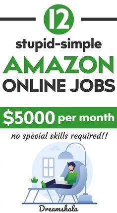 Amazon Online Jobs, Online Jobs From Home, Online Work, Online Apps, Work From Home Careers, Work From Home Companies, Work From Home Opportunities, Amazon Work From Home, Legit Work From Home