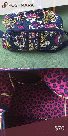 Vera Bradley African Violet weekender Pre owned.  Very good condition.  No major stains.  Could use a good wash to freshen it up. Vera Bradley Bags Travel Bags