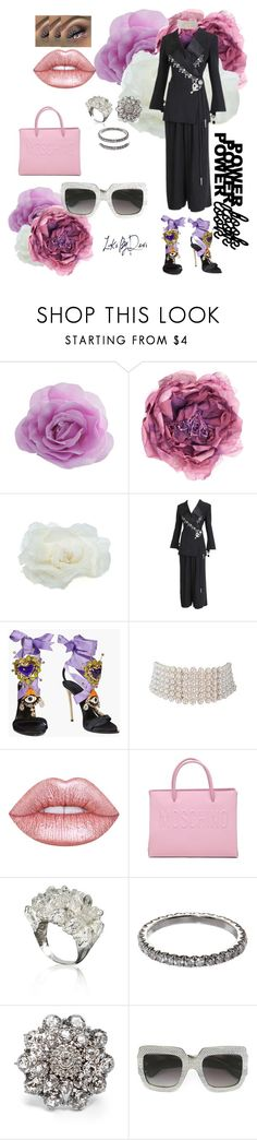 """""""~ unApproachable vIBes~"""" by looksbydevi ❤ liked on Polyvore featuring Gucci, Johnny Loves Rosie, Christian Dior, Dsquared2, Lime Crime, Moschino, SUSAN FOSTER, Oscar de la Renta, girlpower and powerlook"""