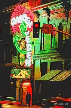 Broadway Strip Club In North Beach, San Francisco   www.mitchellfunk.com