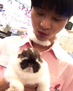 "chained-up-taekwoon: "" ""N with a bunny "" """