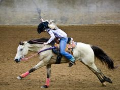 My mom bought me a buckskin gelding named woody. When we get our trailer I will do rodeo and barrel racing.-Kara