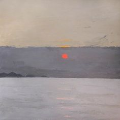 "Kyffin Williams ""Sunset"" Oil on canvas, 121.7 x 121.7 cm"