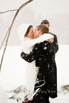 "Love that our pictures from this lovely new year's day blizzard ceremony are at the top of google's ""snow wedding"" image search. :)"