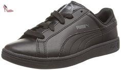 Puma  Puma Smash L, Sneakers basses mixte enfant - Noir - Schwarz (black-black-dark shadow 01), 31 EU - Chaussures puma (*Partner-Link)
