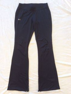 Under Armour Pants Small All Season Gear Black Zipper Pocket Double Waist Band #UnderArmour #PantsTightsLeggings