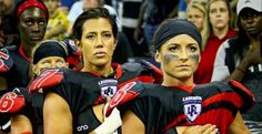 Lingerie Football League Refuses to Kneel. Ladies Football League, American Football League, Football Team, Lfl Players, Seattle Mist, Lingerie Football, Legends Football, Taking A Knee, Blood Sweat And Tears