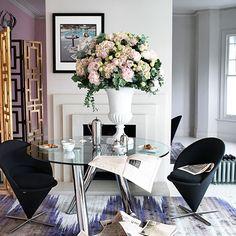Esszimmer Wohnideen Möbel Dekoration Decoration Living Idea Interiors home dining room - Chic Esszimmer mit runden Glastisch
