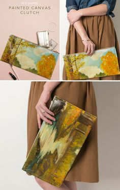 Canvas Painting Clutch DIY   Camp Makery