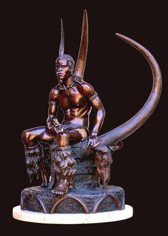 Shaka Zulu (Ndlovunkulu) 720 mm x 530 mm x 560 mm Zulu, Statue Of Liberty, Buddha, Sculpture, Art, Statue Of Liberty Facts, Art Background, Statue Of Libery, Kunst