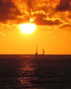 Fire in the Sky, Hawaiian Sunset on Etsy, $25.00