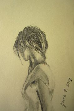 turn away . original sketchbook drawing . by SangtheSwallow, $35.00