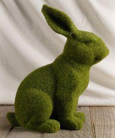 Moss Bunny Statue by Save On Crafts #zulily #zulilyfinds