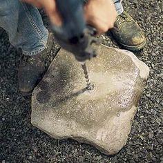drill the fountain stones