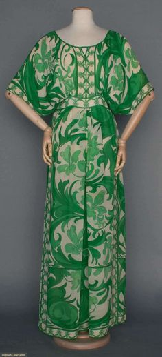 Pucci Printed Chiffon Gown, 1970s, Augusta Auctions, April 9, 2014 - NYC, Lot 271