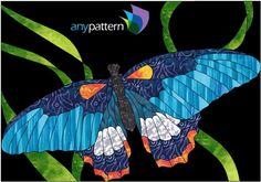 Butterfly Detail Applique Quilt Pattern