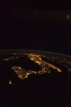 Italy at Night (NASA, International Space Station, 08/18/12) by NASA's Marshall Space Flight Center on Flickr.