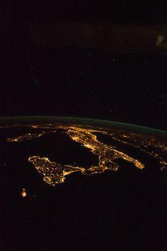 Italy at Night (NASA, International Space Station, 08/18/12) by NASA's Marshall Space Flight Center