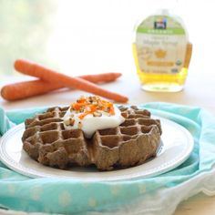 Carrot Cake Waffles- all of the delicious flavor of carrot cake for breakfast! {vegan & gluten-free}