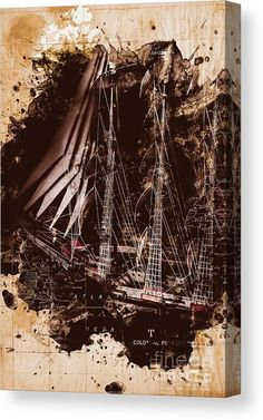 Ship Canvas Print featuring the photograph Abstract Vintage Ship And Old World Paper Map by Jorgo Photography - Wall Art Gallery