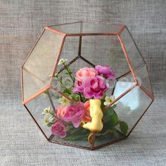 Modern style and classic elegance can both be yours when you make this lovely artistic glass cube a part of your home or patio. Clothing, Shoe Care. Doll Accessories. Made of ultra clear sodium calcium glass and featuring a sturdy copper frame. | eBay!
