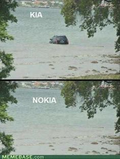 kia / nokia (I laughed way too much at this)