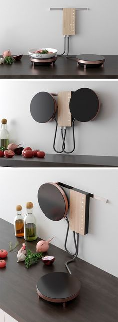 Ordine is an innovative cooking solution designed for the modern user. Optimized… Ordine is an innovative cooking solution designed for the modern user. Optimized for small spaces, the design eliminates the need for a bulky traditional stove, clearing the Kitchen Decor, Kitchen Design, Kitchen Ideas, Kitchen Modern, Kitchen Furniture, Furniture Ideas, Kitchen Small, Kitchen Industrial, Cupboard Design
