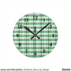green and white plaid pattern