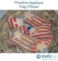 Prim flag pillow tucks