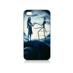 Jack Sally Nightmare Before Christmas Hard Case Skin for Iphone 4 4s... ($8.99) ❤ liked on Polyvore