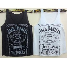 Tank top Jack daniels Crop Tank Tops whiskey T-Shirt Women shirt  vest shirt teen Rock Pop Punk leeveless im01 Black White Pink and more S M on Etsy, $12.00
