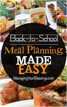 Back-to-School Meal Planning Made Easy :: Come see how Carlie's family has made back-to-school meal planning made easy! :: ManagingYourBlessings.com