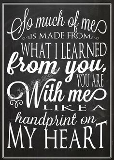 """Wicked Quote - Handprint on My Heart """"For Good"""" 5x7 INSTANT DOWNLOAD Printable Farewell Graduation Moving Friendship Friend Gift Wall Art"""