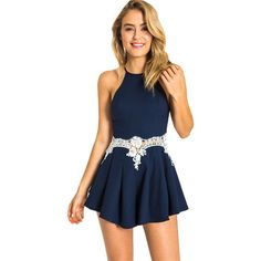 Lace Halter Rompers