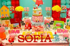 Peppa Pig Birthday Party Ideas | Photo 2 of 146 | Catch My Party
