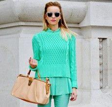 Vestidor monocromática es una de nuestras tendencias de la moda de invierno favoritos.