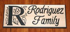 Carved Cedar Wood Monogrammed Initial Family sign  click the link to see more pics