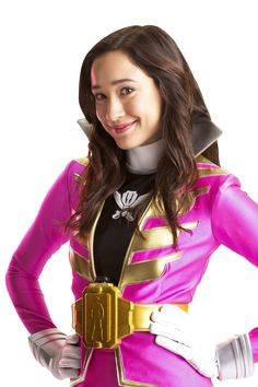 Emma Goodall is Megaforce Pink, the Pink Ranger of Power Rangers Megaforce. Grateful to have her best friend Gia (the Yellow Ranger) at her side in this scary yet noble adventure, she is anxious to protect our planet from the bad guys.  Emma's goal is not only to save the world but also to make it a better place.