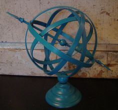 Armillary Sphere in Turquoise