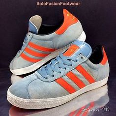 adidas-Originals-Mens-Gazelle-Blue-Orange-Trainers-sz-7-5-Rare-Sneaker-US-8-41-3