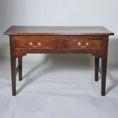 """Late 18th century Oak Writing or Serving Table Width: 49"""" / 125 cms Depth: 24"""" / 61 cms Height: 30.5"""" / 77 cms"""