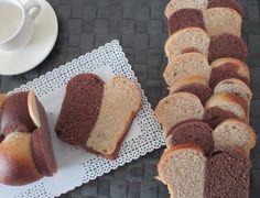 Pan+brioche+bicolor,+effetto+scacchiera,+con+pasta+madre