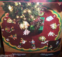 Bucilla 12 DAYS OF CHRISTMAS Partridge in Pear Tree Felt Tree Skirt Kit OOP NEW on eBay!