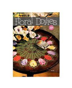 1950 Newest In Floral Doilies  Vintage Crochet von treazureddesignz, $4.95