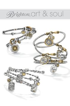 Wear them, stack them, give them to a special friend.....Art & Soul bangles from Brighton speak from the heart!