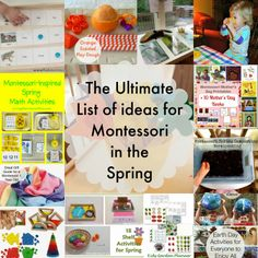 The Montessori on a Budget blog: The Ultimate list of Montessori in the Spring