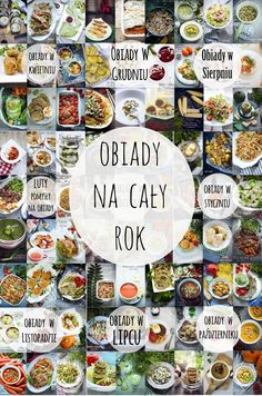 Pomysły na obiady na cały rok Ideas for dinners for the whole year Helathy Food, Polish Recipes, Polish Food, Cooking Recipes, Healthy Recipes, Lunch Box, Lunch Menu, Good Food, Food And Drink