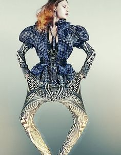 love the print combination and great pants!